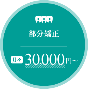 部分矯正 月々30,000円~